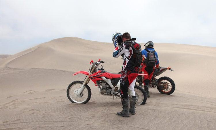 Fahrt über die Dünen