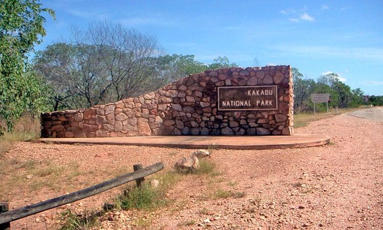 Der Eingang zum Kakadu National Park