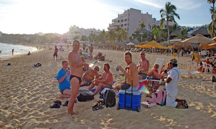 Relaxen am Strand von Cabo San Lucas