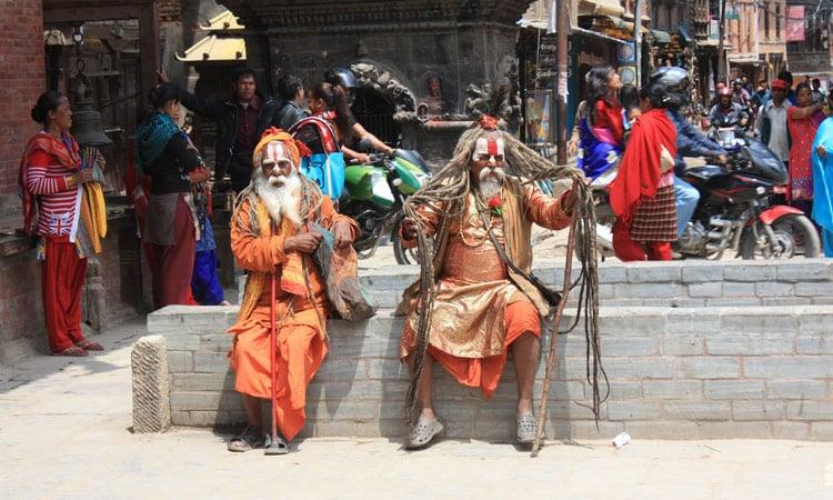 Sadus in Kathmandu