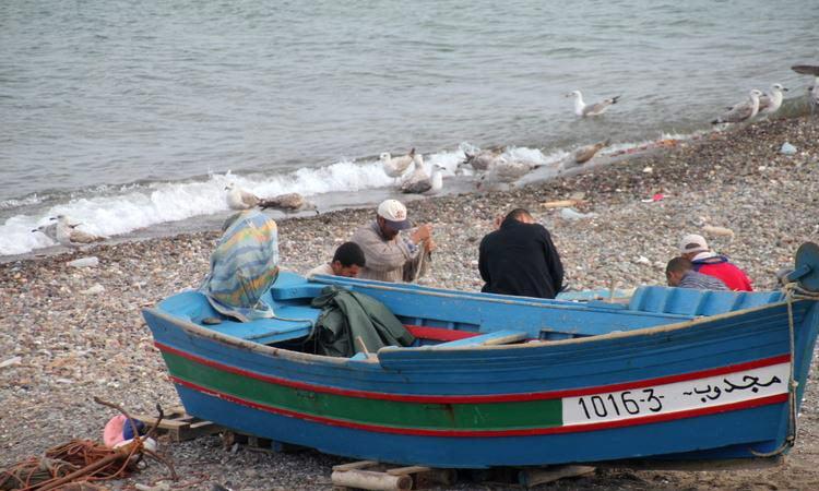 Fischer an der Marokkanischen Küste