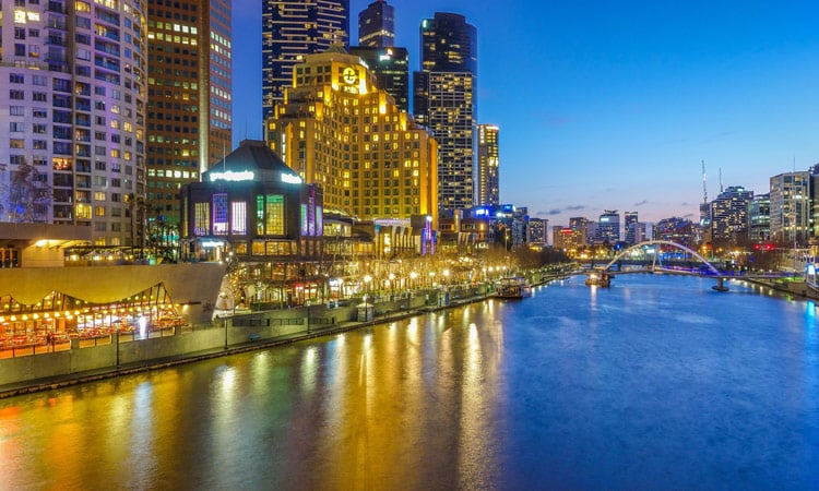 Melbourne am Abend