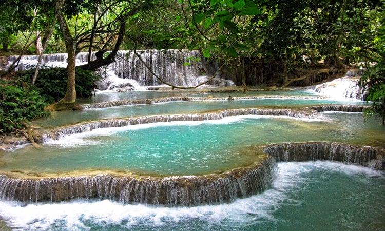 Die Kuang Si Wasserfälle bei Luang Prabang