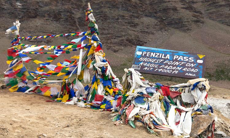 Der höchste Punkt am Penzi La Pass