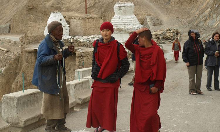 junge Mönche des Lamayuru Klosters