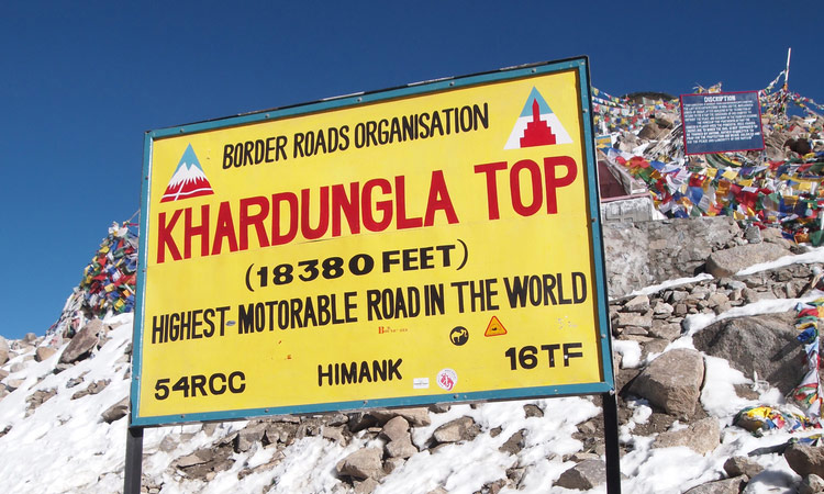 Der höchste Punkt des Khardung La Passes