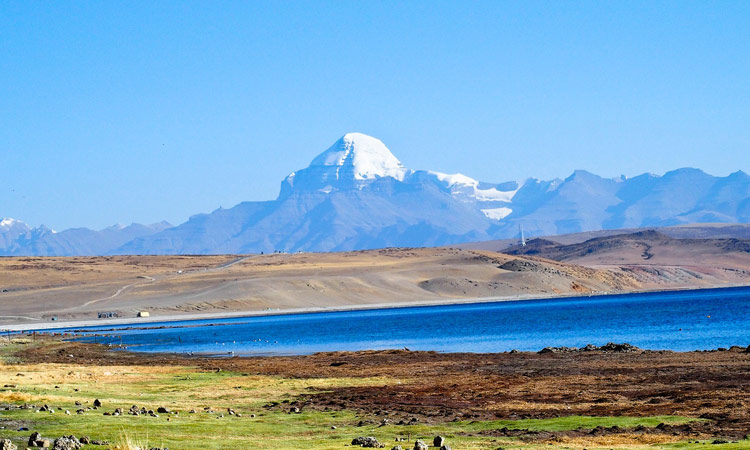 Mount Kailash und Manasrovar See