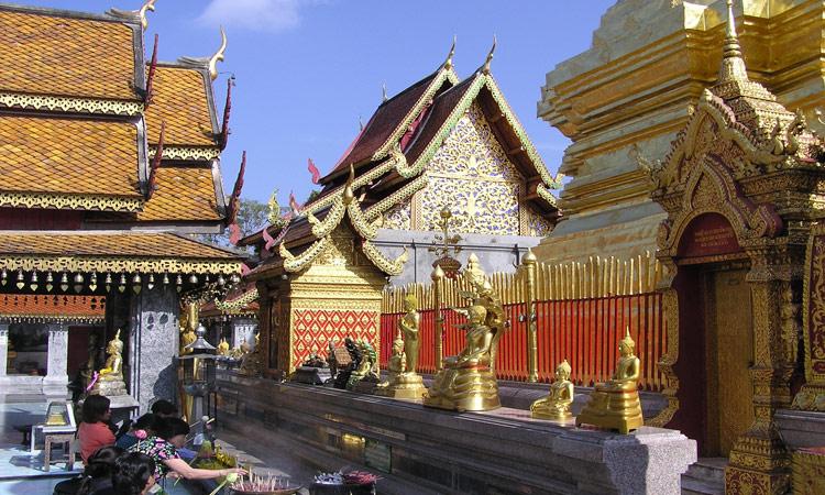 Tempelanlage Nord-Thailand