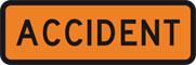 Unfall Warnschild