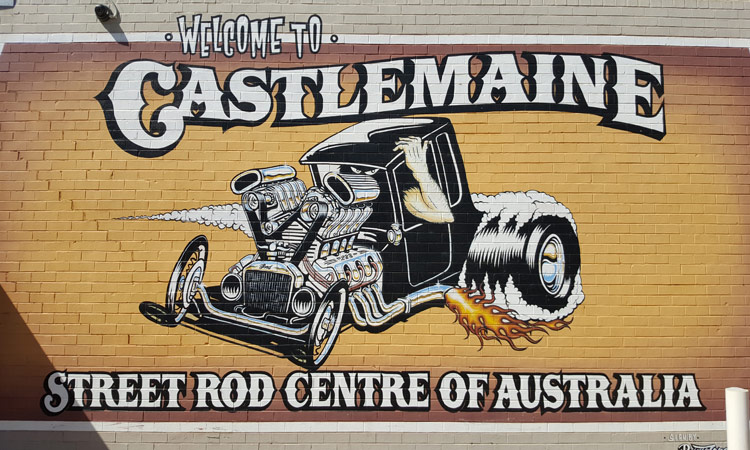 Street Rod Schild in Castlemaine