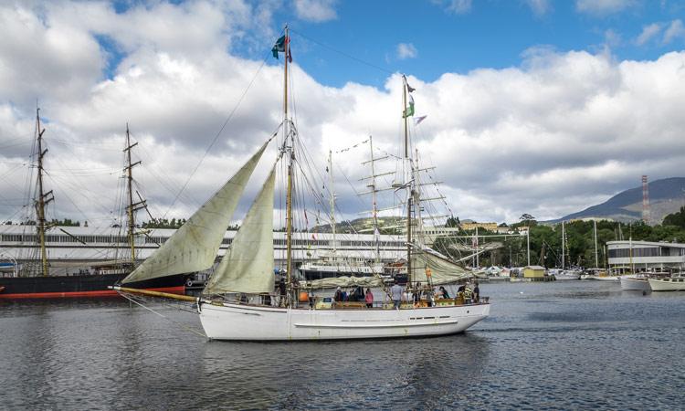 Der Hafen von Hobart