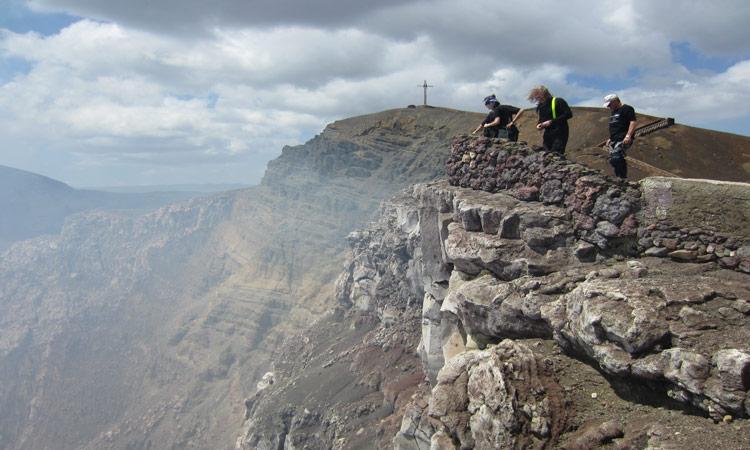 Blick in den Vulkan Masaya