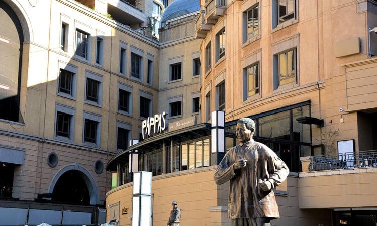 Mandela Statue in Johannesburg