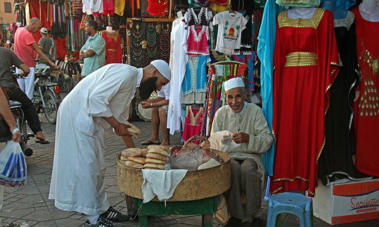 Minibäckerei im Bazaar von Marrakesch