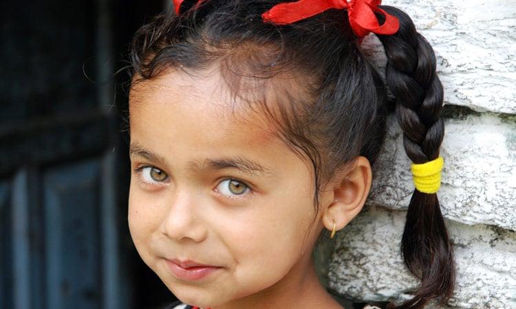 Ein Nepali Mädchen