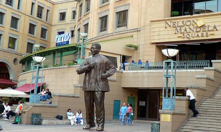Der Nelson Mandela Square in Johannesburg