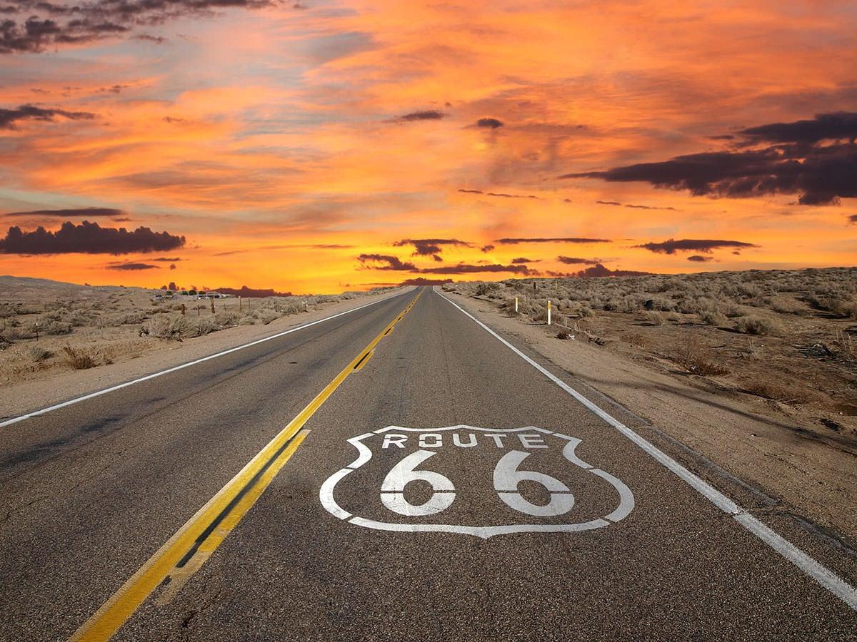 Route 66 Sonnenuntergang
