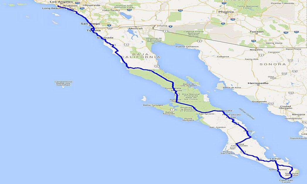 Baja California Routenverlauf