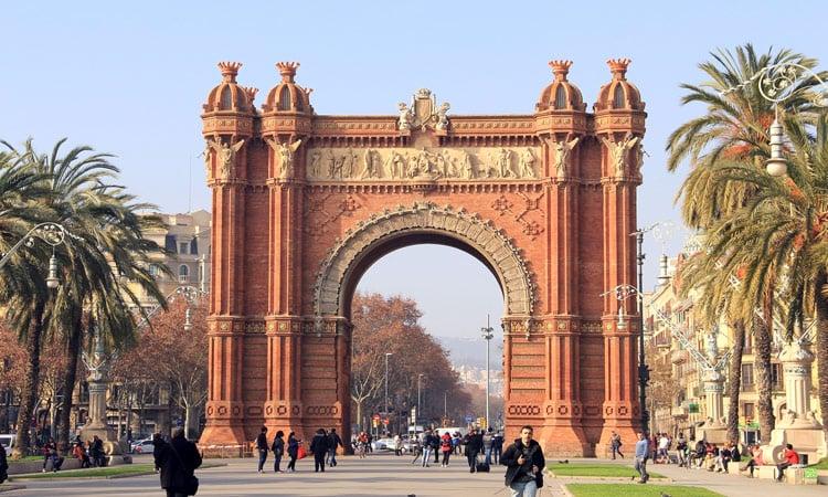Der Triumphbogen Barcelonas