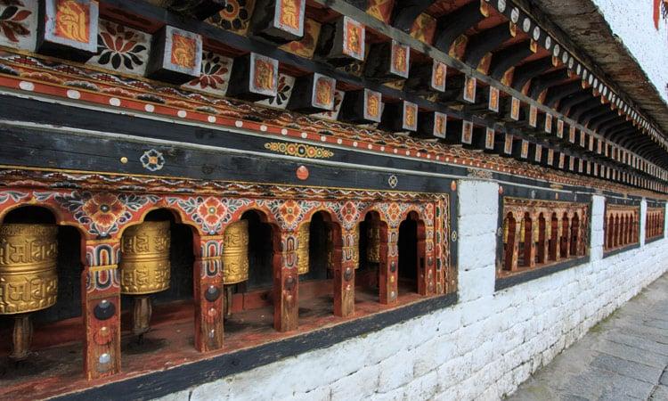 Gebetsmühlen in Bhutan