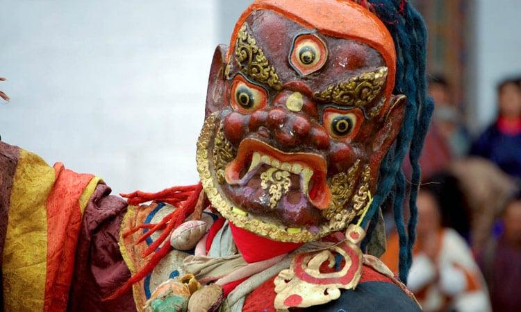 Bhutan Maskentänzer