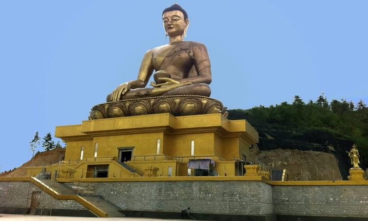 Die große Buddha Statue in Thiumphu