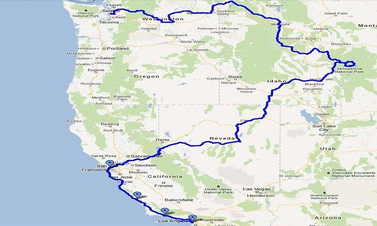 Die Rocky Mountains Routenverlauf
