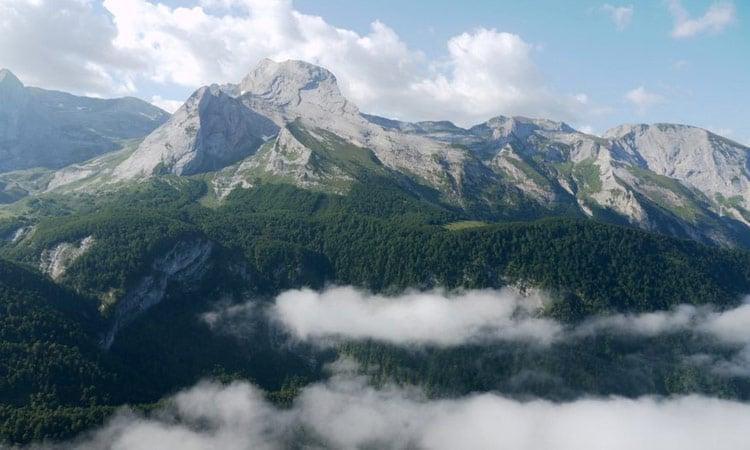 Pyrenäen fantastische Aussicht