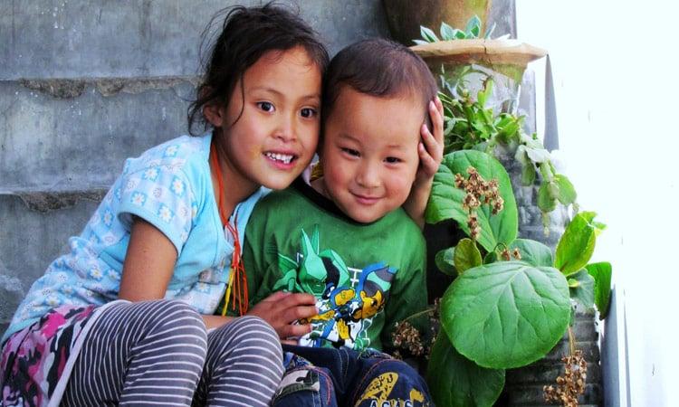 Bhutan glückliche Kinder