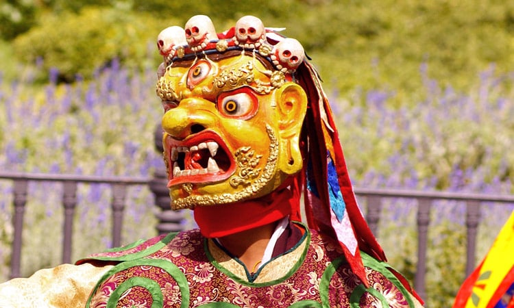 Bhutan religiöser Maskentanz