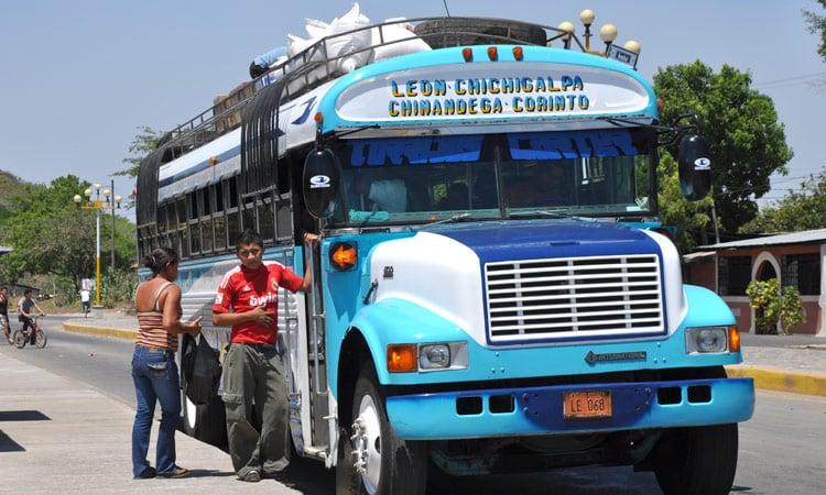 Ein typischer Bus in Nicaragua