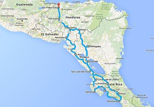 Panamericana Motorradtour Karte