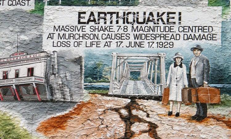 Wandmalerei Erdbeben von 1929