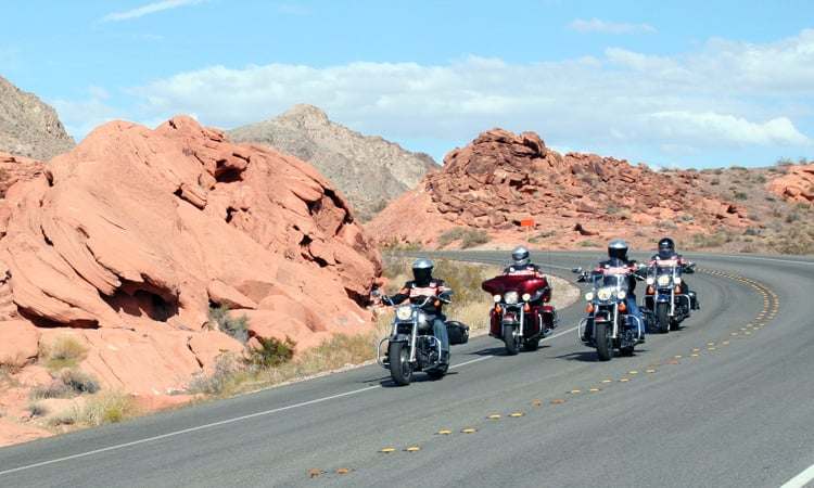 Bikers ride the Route 66