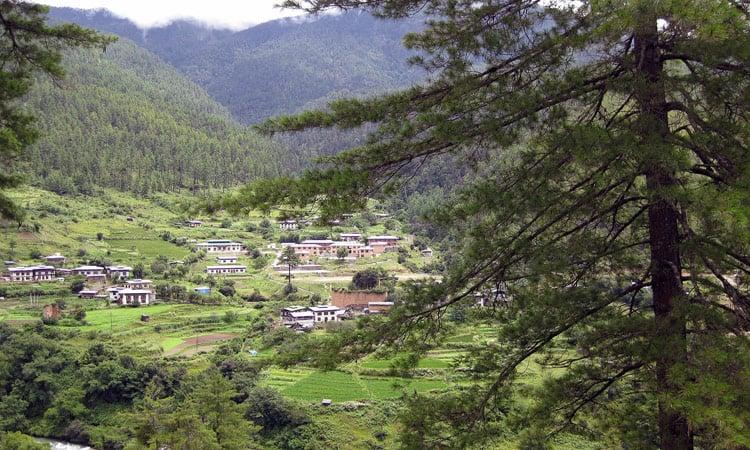 Bergpanorama in Sikkim