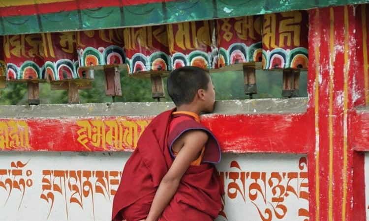 Sikkim Mönch des Klosters Rumtek